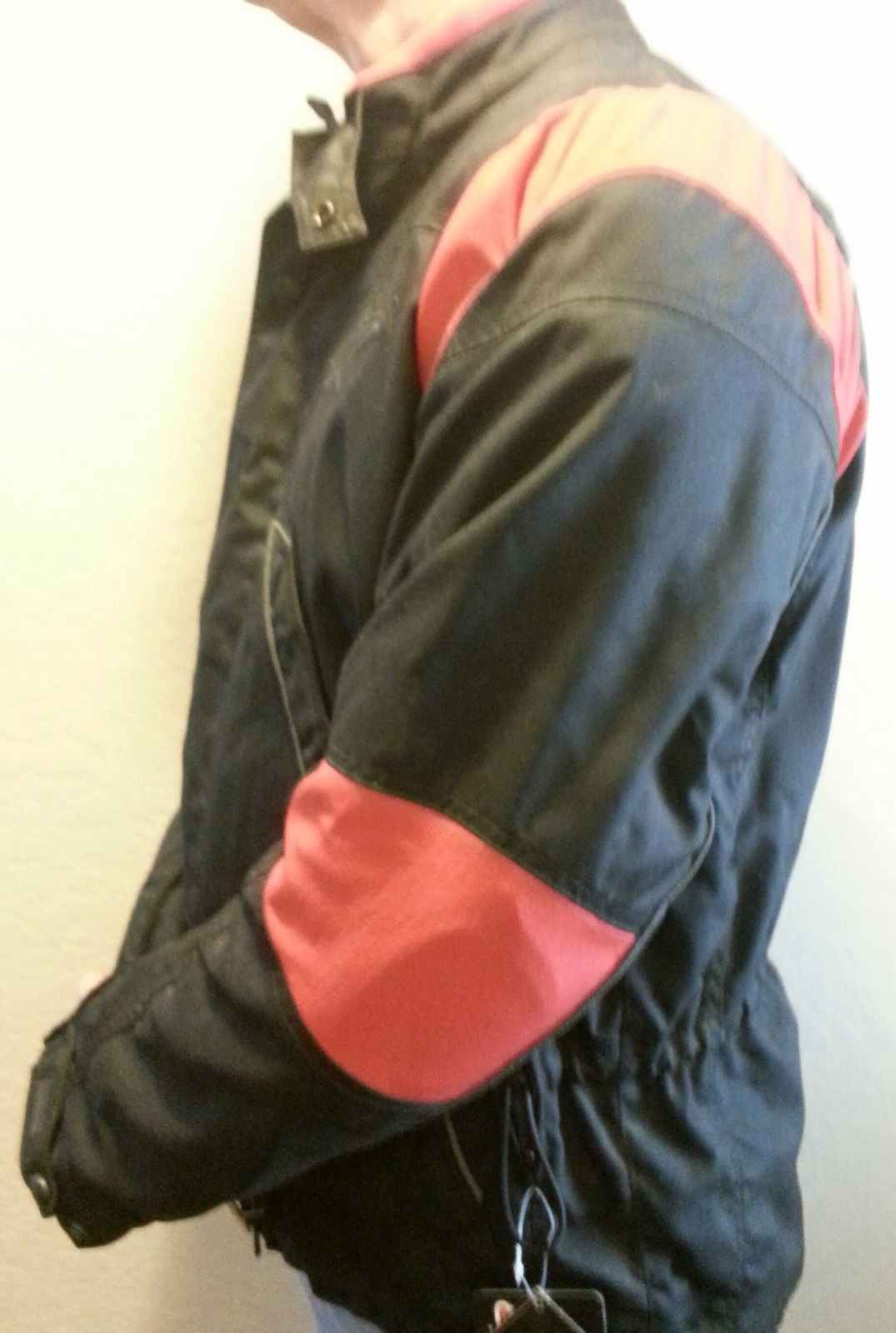 alpinestares tec road jacket black & red side view