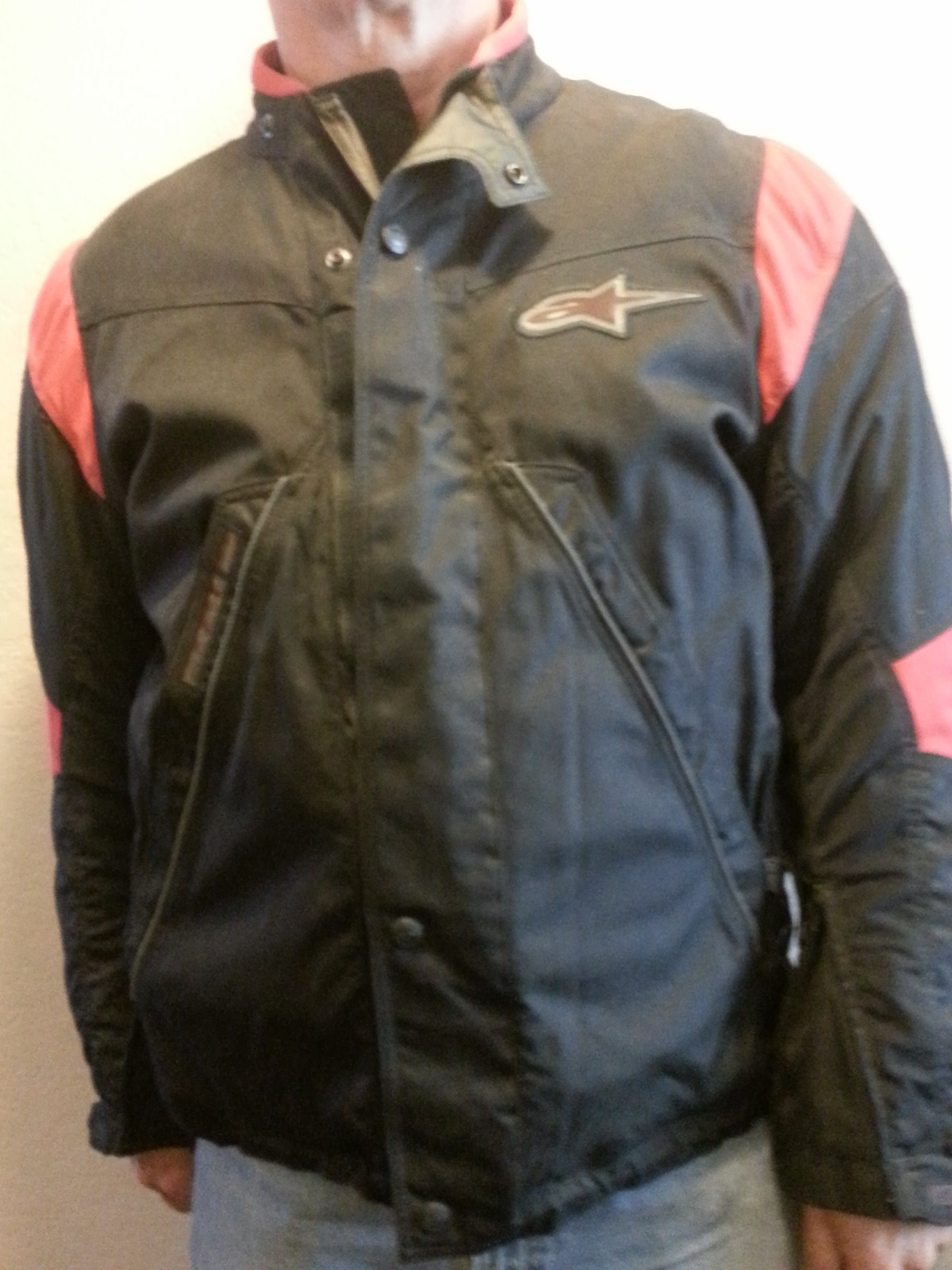 alpinestares tec road jacket black & red